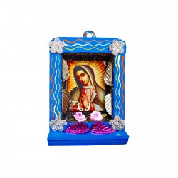 Blue Small Virgin of Guadalupe shrine