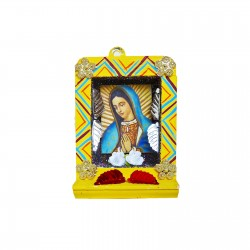 Yellow Small Virgin of Guadalupe shrine