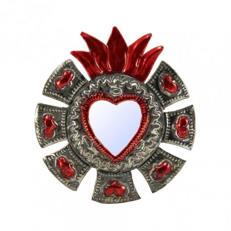 Coeur sacré à miroir Petits coeurs