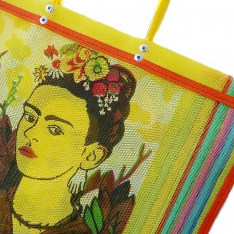 Yellow Frida Kahlo market bag