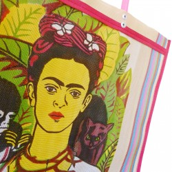 Tan Frida Kahlo market bag