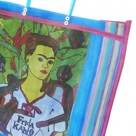 Royal blue Frida Kahlo market bag
