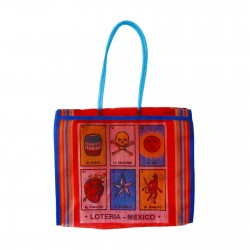 Red Loteria market bag