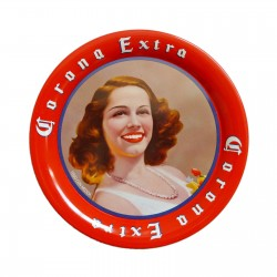 Corona retro pinup beer coaster
