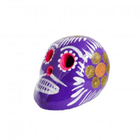 Cráneo mexicano pequeño Violeta