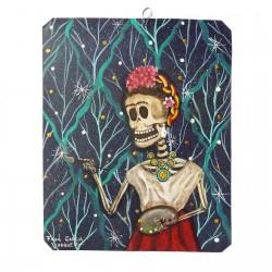 Pintura Frida pintando estrellas
