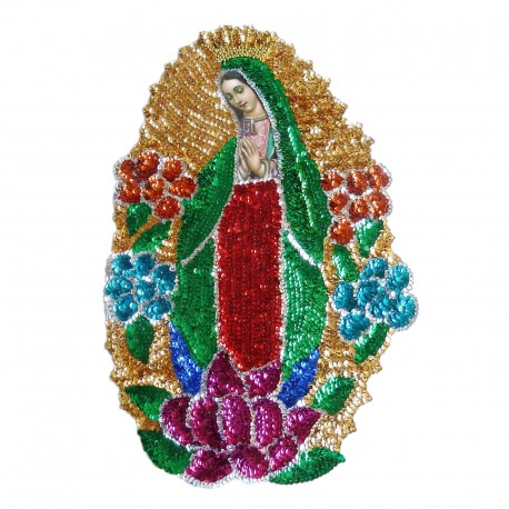 45cm Virgin of Guadalupe sequin patch