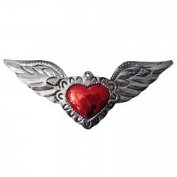 Sagrado corazón con alas grandes