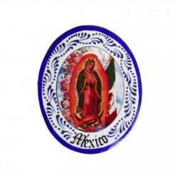 Imán Virgen de Guadalupe Azul