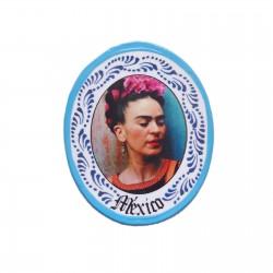 Magnet Frida couronne de fleurs Bleu