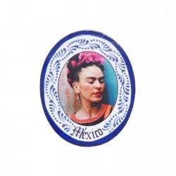 Magnet Frida couronne de fleurs Bleu foncé