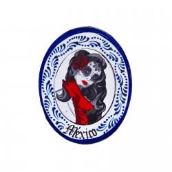 Catrina magnet Blue