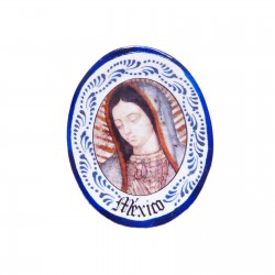 Virgin of Guadalupe magnet Blue