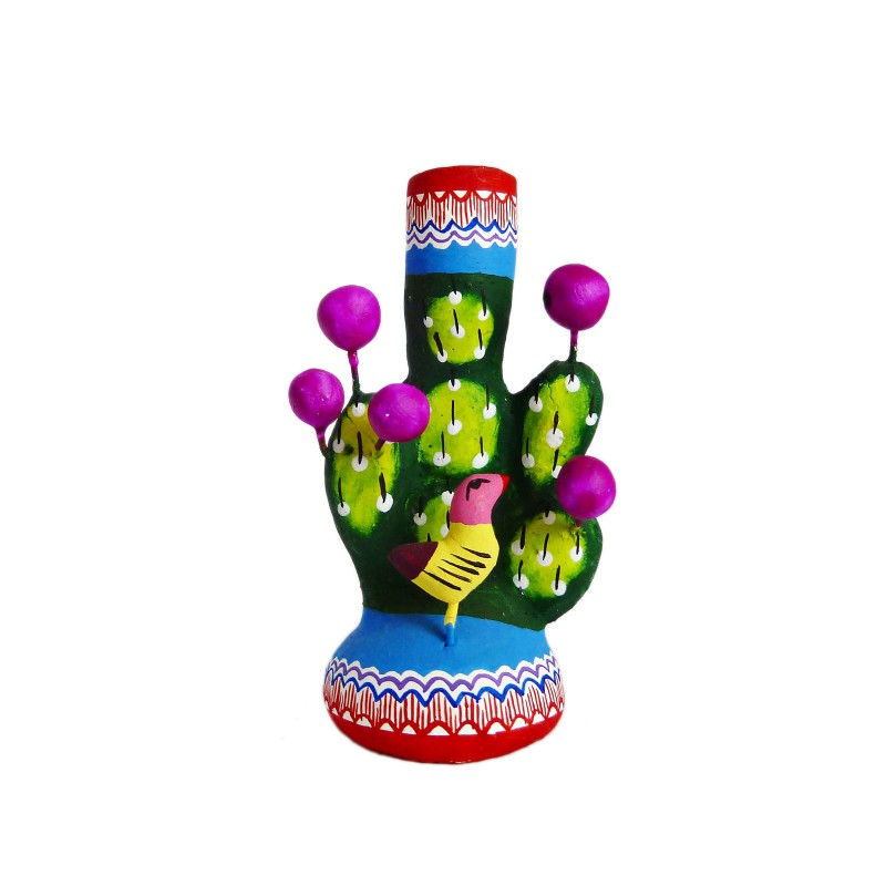 Cactus Mini Tree Of Life Clay Mexican Folkart Casa Frida