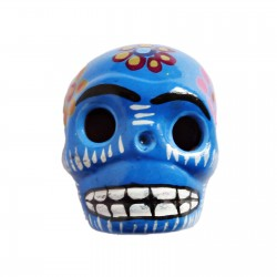 Blue Large skull magnet