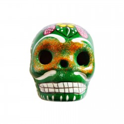 Green Large skull magnet