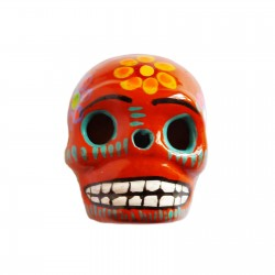 Orange Large skull magnet