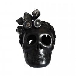 Crâne Frida Barro Negro