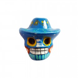 Blue Skull with sombrero magnet