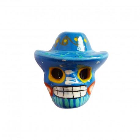Blue Skull with sombrero magnet