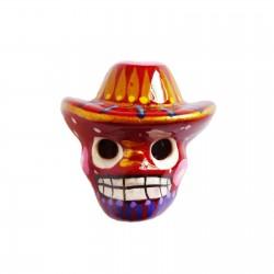 Magnet Crâne au sombrero Rouge