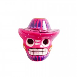 Pink Skull with sombrero magnet