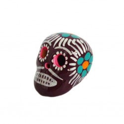 Burgundy Small Mexican skull