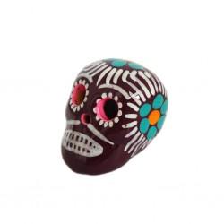 Cráneo mexicano pequeño Borgoña