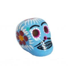 Cráneo mexicano pequeño Azul claro