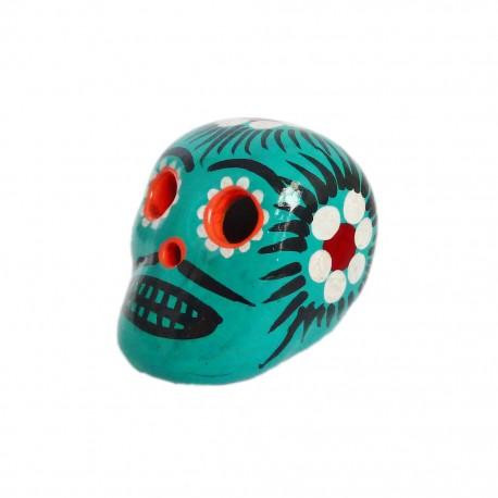 Cráneo mexicano pequeño Turquesa