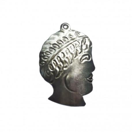 Man's head Tin milagro