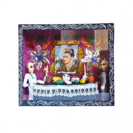 Caja de calaveras Altar de Frida Negro