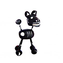 Black dog Calavera figurine