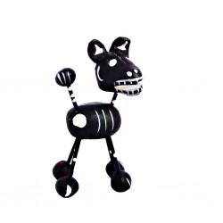 Figurine calavera chien Noir