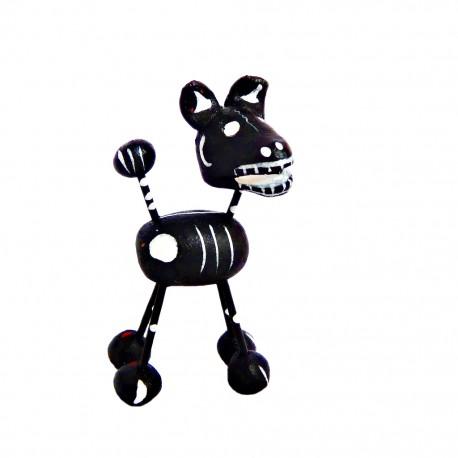 Figurilla de perro calavera Negro