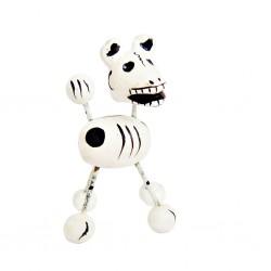 Figurilla de perro calavera Blanco
