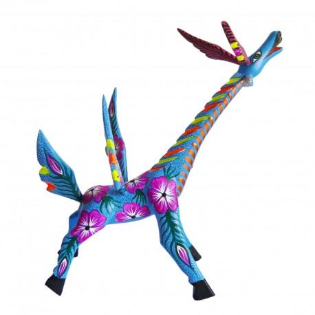 Blue giraffe Alebrije