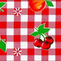 Red Frutal Oilcloth