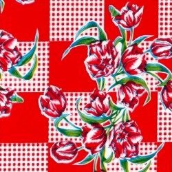 Toile cirée Tulipanes Rouge