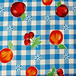 Royal blue Frutal Oilcloth