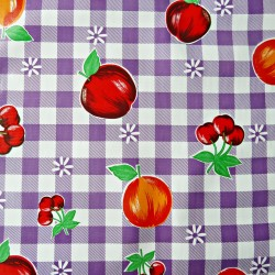 Purple Frutal Oilcloth