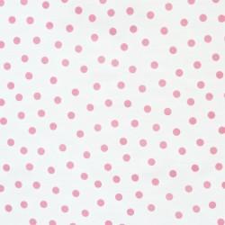 Pink Polka dots Oilcloth