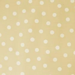 Tan Polka dots oilcloth