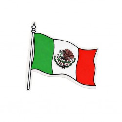 Sticker bandera mexicana