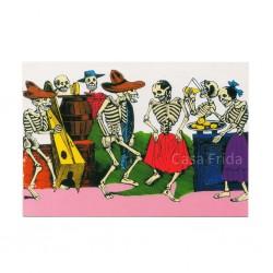 Carte postale Fête des morts