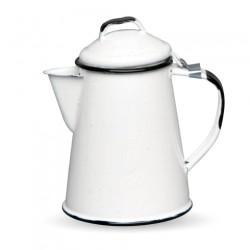 Cafetière émaillée rétro Blanc