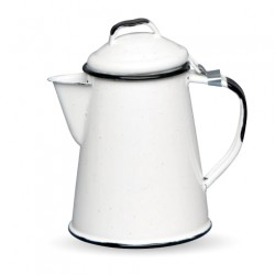 White Retro enamel coffee pot