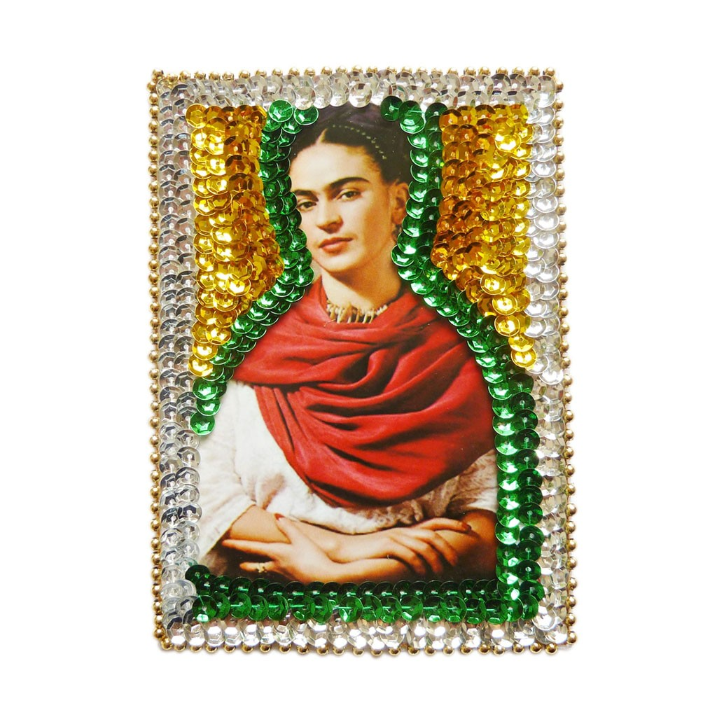 Frida Kahlo Mexican Artist Embroidered Sew Iron On Patch Applique