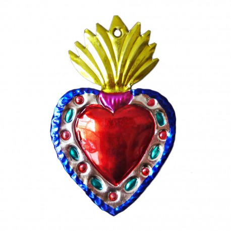 Coeur sacré à flamme Jaune