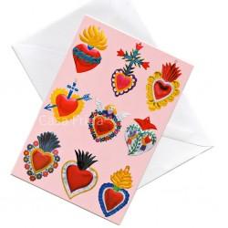 Postal Sagrados corazones